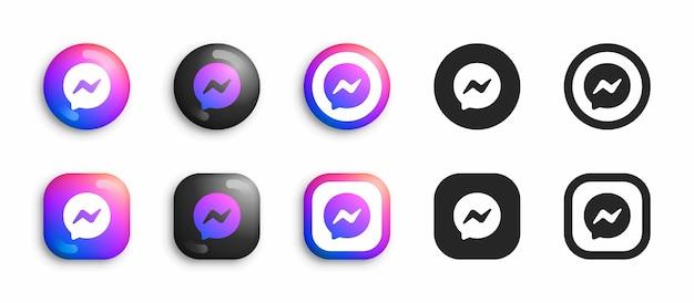 Nowe nowoczesne i płaskie ikony na białym tle