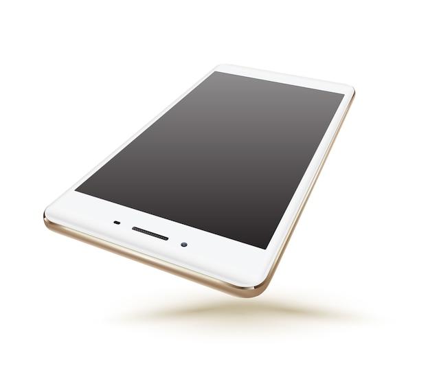 Nowe realistyczne makiety ze złotymi smartfonami