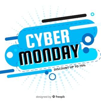 Nowożytny cyber Poniedziałku skład z płaskim projektem