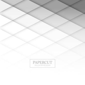 Nowożytny papercut szarość tła wektor