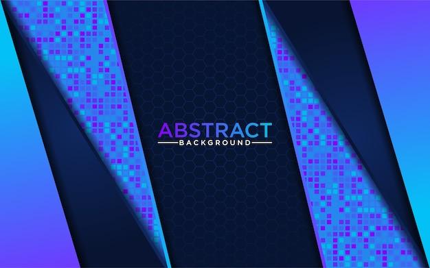 Nowoczesna abstrakcyjna niebieska technika z ciemnoniebieskim tłem