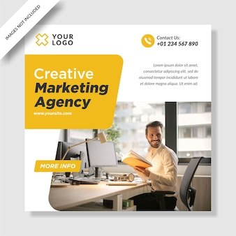 Nowoczesna agencja marketingu cyfrowego instagram post banner projektowanie mediów społecznościowych
