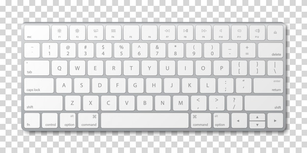 Nowoczesna aluminiowa klawiatura komputerowa