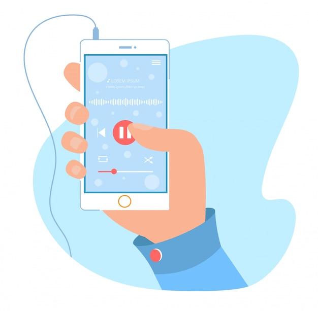 Nowoczesna aplikacja odtwarzacza audio na telefon komórkowy
