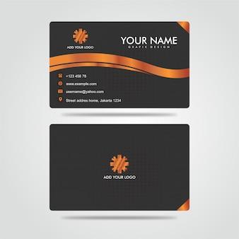 Nowoczesna bussines card gold dark