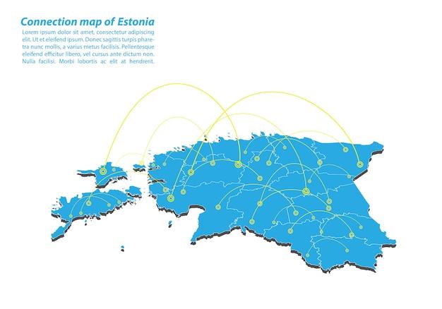 Nowoczesna estonia mapa połączeń sieciowych
