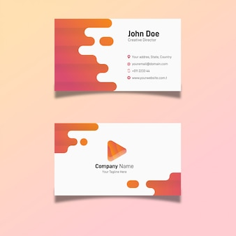Nowoczesna firma kreatywna wizytówki