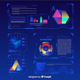 Nowoczesna futurystyczna kolekcja elementów infographic