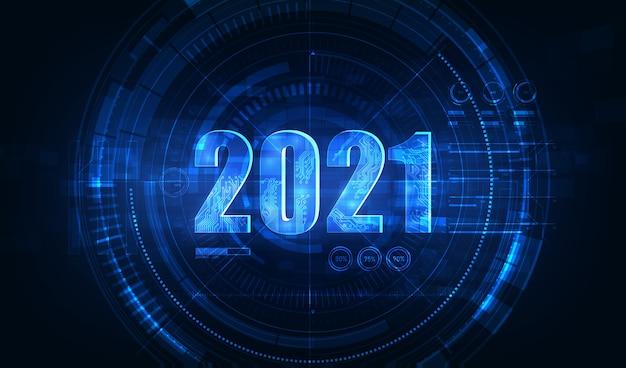 Nowoczesna Futurystyczna Technologia Na Nowy Rok Premium Wektorów