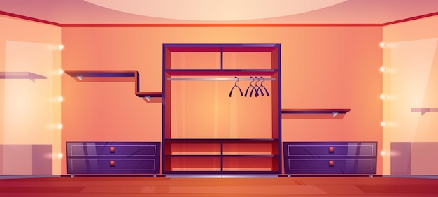 Nowoczesna garderoba z szafą i półkami na ubrania