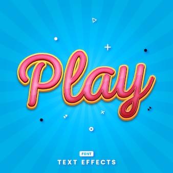 Nowoczesna gra modny szablon efekt tekstu