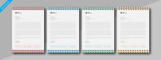 Nowoczesna i elegancka firma korporacyjna szablon projektu papieru firmowego w rozmiarze a4