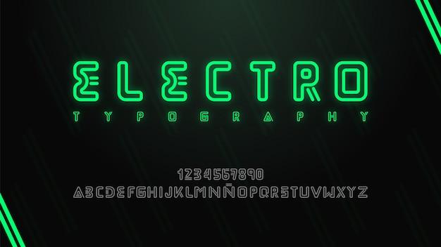 Nowoczesna i futurystyczna typografia z muzyką elektroniczną