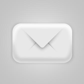 Nowoczesna ikona e-mail 3d. post, spam lub list
