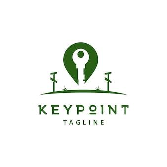 Nowoczesna ilustracja logo keypoint