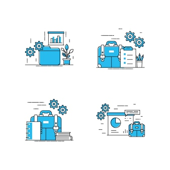 Nowoczesna ilustracja obszaru roboczego