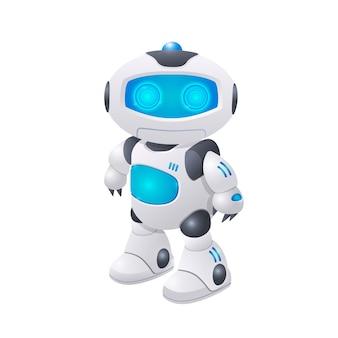 Nowoczesna ilustracja postaci robota przyszłe technologie sztuczna inteligencja