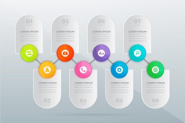 Nowoczesna infografika kroków zawodowych