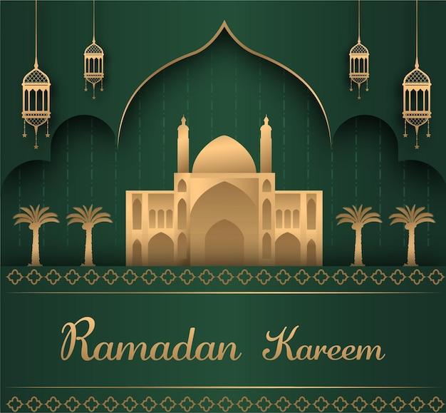 Nowoczesna islamska ilustracja ramadan kareem