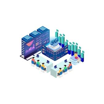 Nowoczesna izometryczna technologia prędkości internetu na potrzeby rozwoju technologii komunikacyjnych