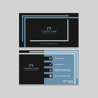 Nowoczesna karta firmowa z liniami