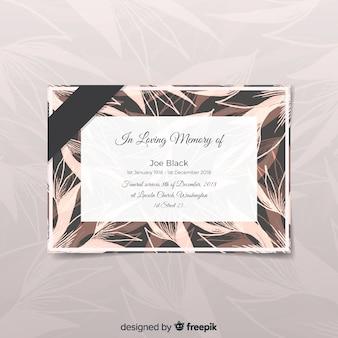 Nowoczesna karta pogrzebowa w eleganckim stylu