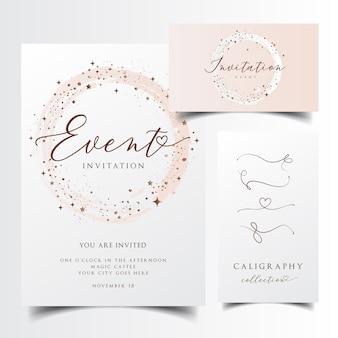 Nowoczesna karta zaproszenie
