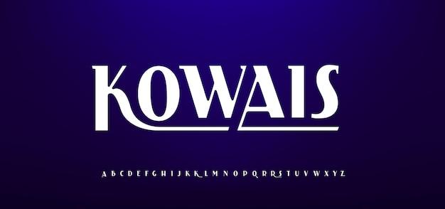 Nowoczesna, klasyczna czcionka alfabetu