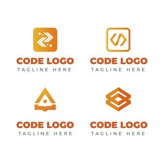 Nowoczesna kolekcja logo kodu