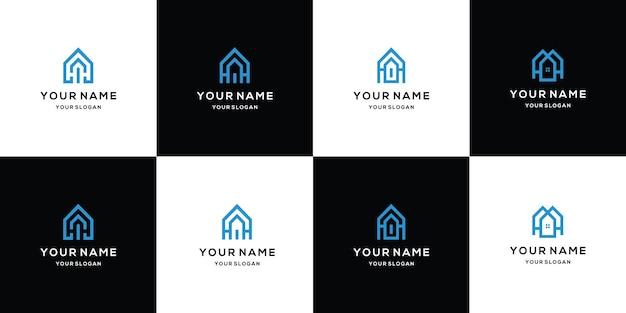 Nowoczesna kolekcja logo nieruchomości