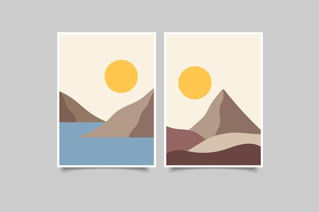 Nowoczesna kolekcja obrazów ściennych z krajobrazem
