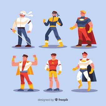 Nowoczesna kolekcja postaci superbohatera z płaskiej konstrukcji