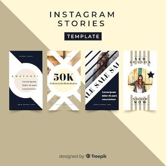 Nowoczesna kolekcja szablonów historii instagramów
