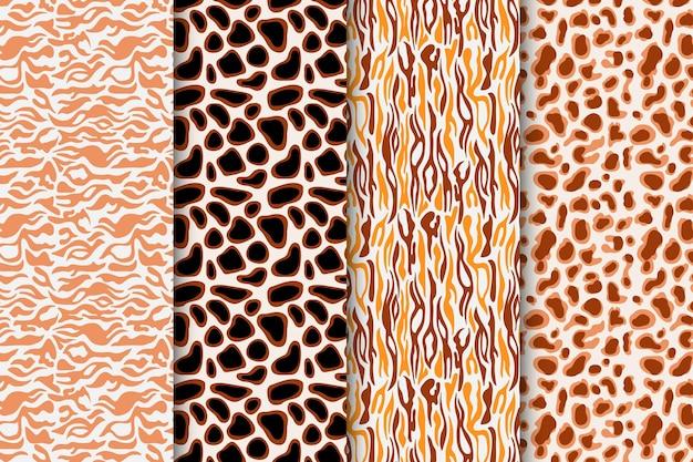 Nowoczesna kolekcja wzorów zwierzęcych