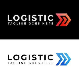 Nowoczesna kolorystyka logistyka dostawa w dwóch wersjach logo
