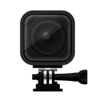 Nowoczesna kompaktowa kamera akcji - ikona kamery sportowej ekstremalnej