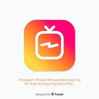 Nowoczesna kompozycja na instagramie ze stylem gradientu