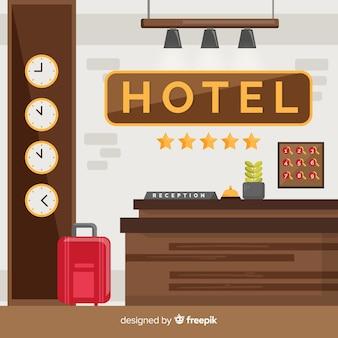 Nowoczesna kompozycja recepcji hotelowej