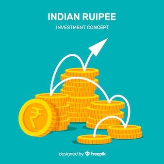Nowoczesna kompozycja rupii indyjskich