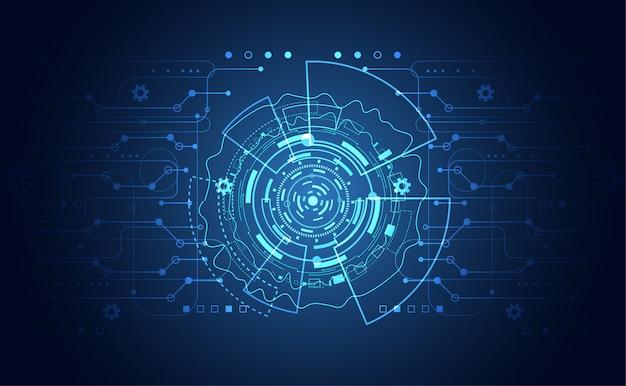 Nowoczesna komunikacja abstrakcyjna koncepcja technologii