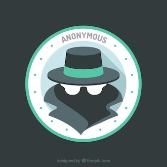 Nowoczesna koncepcja anonimowy z płaskiej konstrukcji