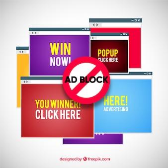 Nowoczesna koncepcja bloku reklamowego z płaską konstrukcją