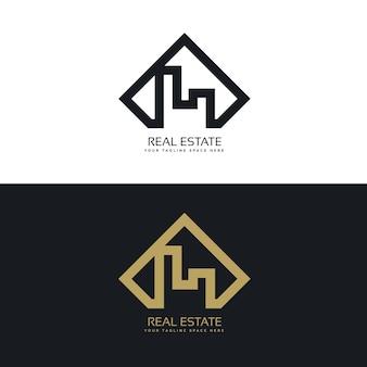 Nowoczesna koncepcja logo nieruchomości