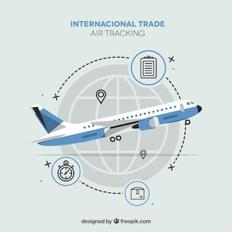 Nowoczesna koncepcja międzynarodowego handlu z płaskiej konstrukcji