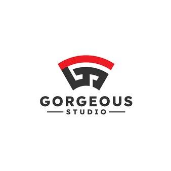 Nowoczesna koncepcja projektowania logo litery g i s