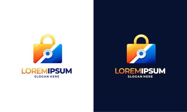 Nowoczesna koncepcja projektowania logo lock secure