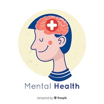 Nowoczesna koncepcja zdrowia psychicznego z płaskiej konstrukcji