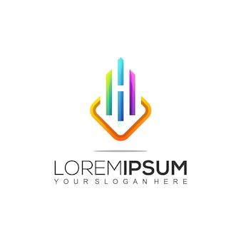 Nowoczesna konstrukcja wzornik projektu logo