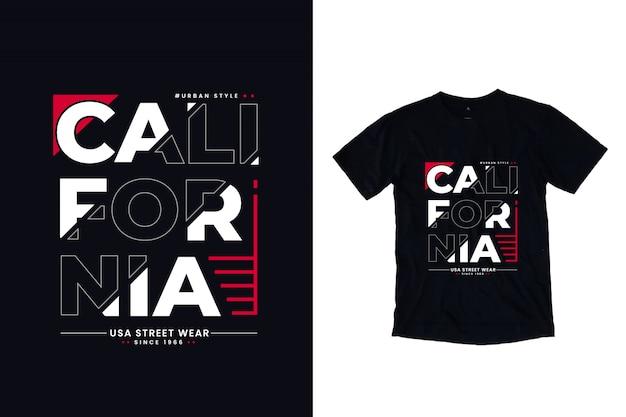 Nowoczesna koszulka z napisem california