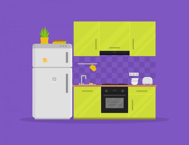 Nowoczesna kuchnia z meblami